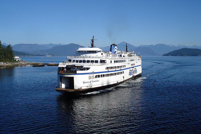 The ferry in Horseshoe Bay, West Vancouver. Photo by JamesZ_Flickr