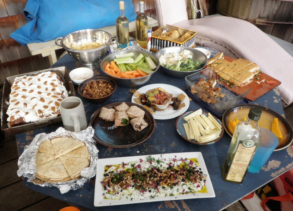 What's on the potluck menu?  A little bit of everything!