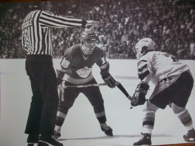 Gary faces off against Marcel Dionne