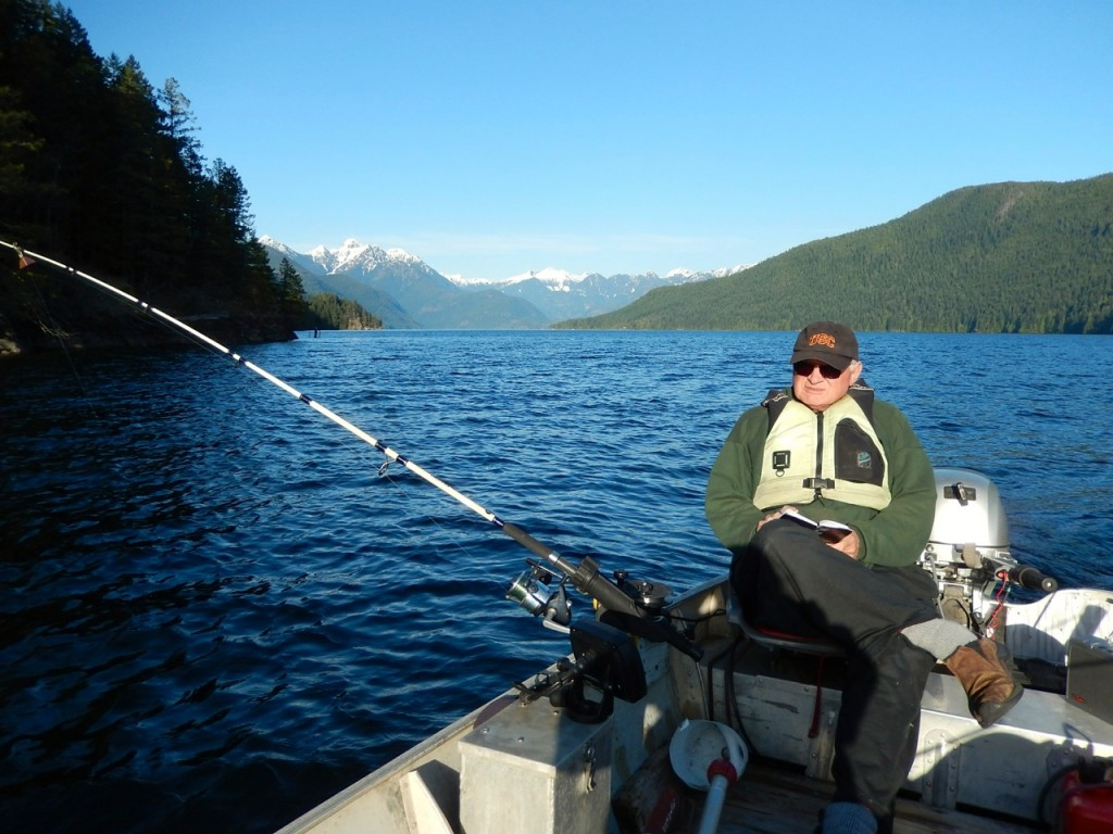 Wayne fishing in First Narrows