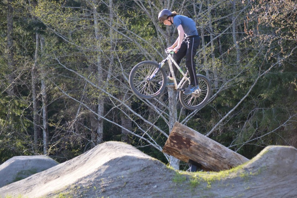 Michael Behan flying high at the new bike park - photo by Mandy Baker