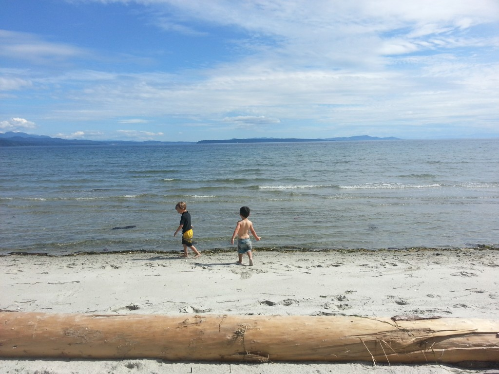 Playing in the water on Savary - Photo by Diana Findlay