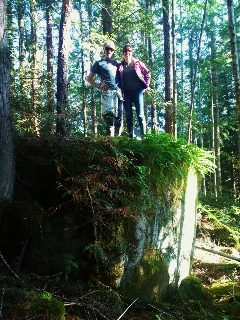 André and I standing on rock solid ground.