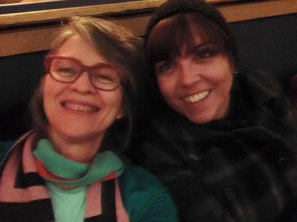 Maria Munro and I all smiles after a screening at the Patricia Theatre at the 2015 film fest. (photo courtesy of Ross and Maria Munro)