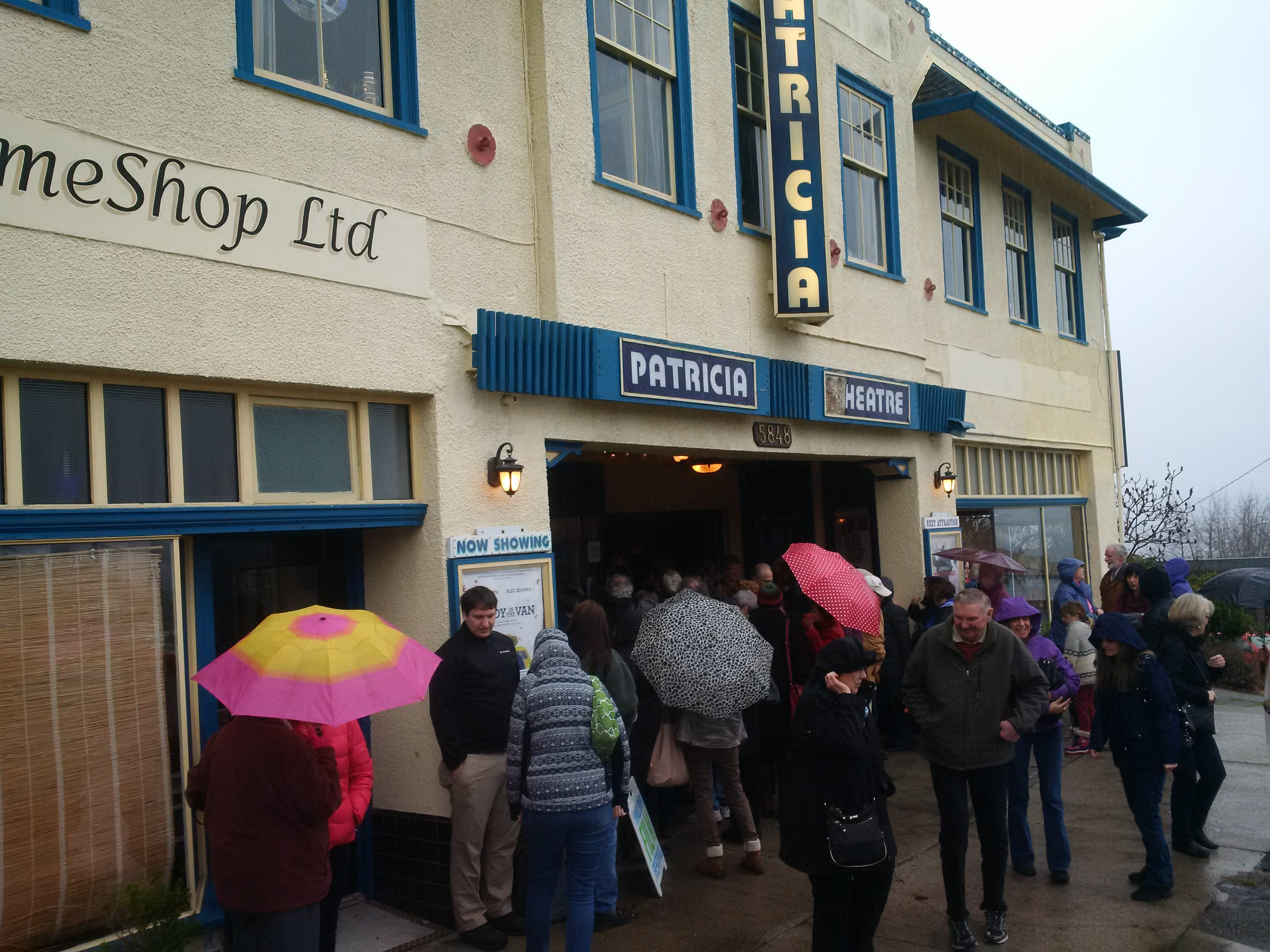 The umbrellas are out at the Powell River Film Festival.