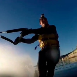 Waterskiing in Powell River all year round? Here's video evidence