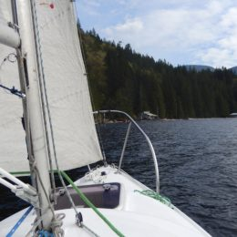Learning to sail on Powell Lake