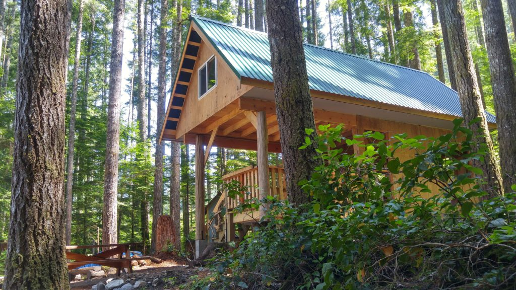 Stay at the new Golden Stanley hut on the Sunshine Coast Trail for the mere cost of some sweat and healthy strain.