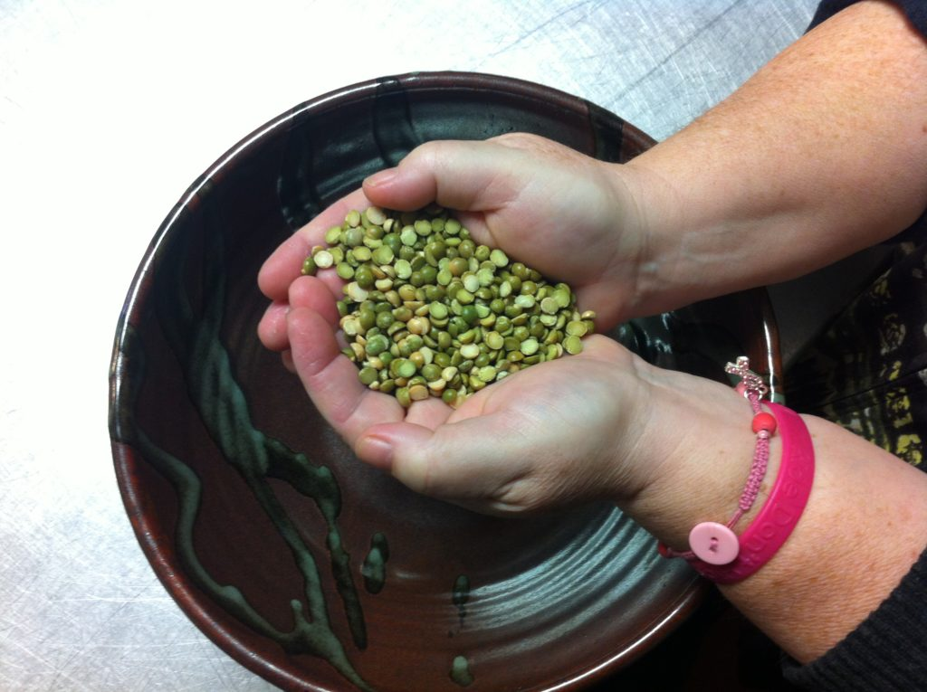 Counting beans at the CRC (Powell River Community Resource Centre)