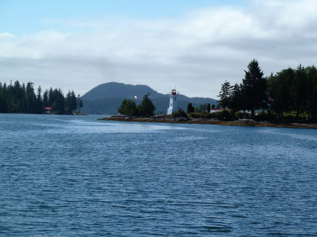 Approaching Bella Bella from Seaforth Channel