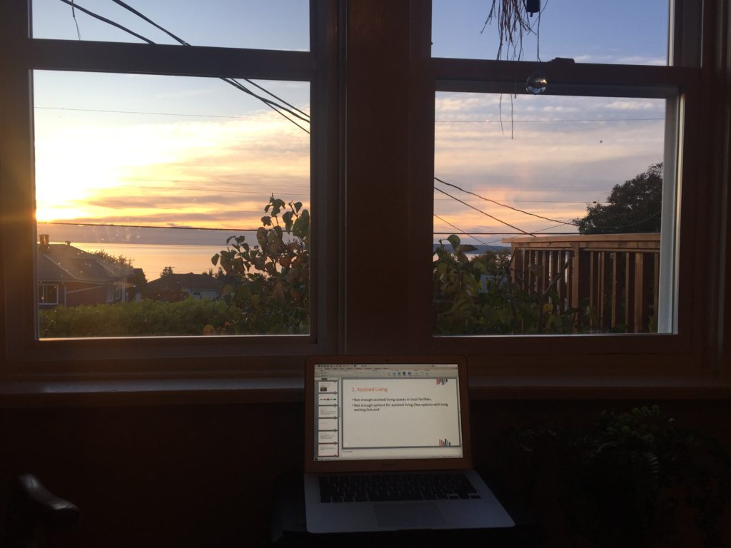 working from home in Powell River