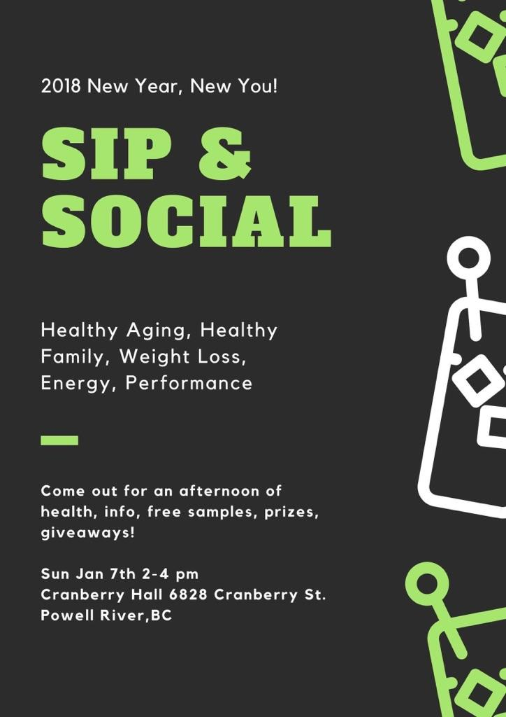 sip & social in powell river